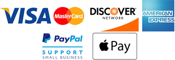 Credit card accepted - PayPal - Apple Pay