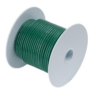 Ancor Green 8 AWG Tinned Copper Wire - 25'